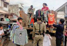 Tak Bayar Retribusi dan Merusak Gembok, Pemkot Kotamobagu Kosongkan Beberapa Kios di Pasar 23 Maret