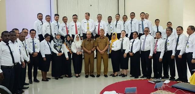 Sekprov Gorontalo Jadi Pembicara dalam Diklat PIM III yang Diikuti Tujuh Perwakilan Kota Kotamobagu