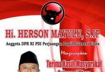 Resmi Dilantik sebagai Anggota DPR RI, Herson: Terima Kasih Masyarakat Sulut