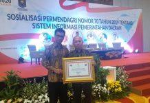 Pemkab Bolmong dapat Penghargaan dari Kemendagri Atas Menerapkan Sistem e-Planning dan e-Budgeting