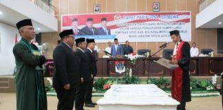 DPRD Boltim Gelar Rapat Paripurna Pengambilan Sumpah dan Janji Tiga Pimpinan