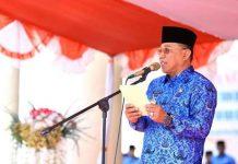 Irup HUT Ke-48 Korpri, Bupati Bolmut Bacakan Sambutan Presiden RI