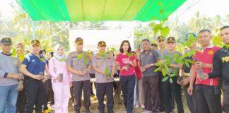 Lakukan Penanaman Pohon, Kapolres: Kegiatan Ini Adalah Program Kapolri Tahun 2020