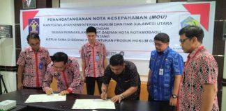 DPRD Kota Kotamobagu Teken MoU dengan KemenkumHAM Terkait Promperda Tahun 2020