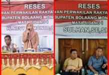 Dua Anggota DPRD Bolmong Nevy dan Sulhan Serap Aspirasi Masyarakat