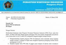 PWI Pusat Keluarkan Edaran sebagai Bentuk Partisipasi Menghambat Penyebaran Virus Corona