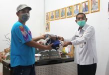 Petugas Kebersihan di Kotamobagu Dapatkan Sumbangan Masker dan Sarung Tangan