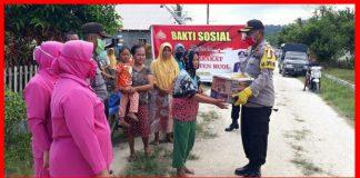 Polres Buol Salurkan Bantuan kepada Warga Terdampak Pandemi Covid-19