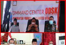 Bupati Bolsel Laporkan Perkembangan Penanganan Covid-19 ke Gubernur Sulut Melalui Vicom