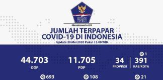 Bertambah 693 Orang, Total Positif Covid-19 di Indonesia per 20 Mei Sebanyak 19.189 Kasus