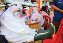 Giliran Pedagang Pasar Serasi Kotamobagu di Rapid Test