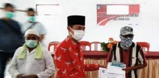 Dipantau Langsung Anggota DPR RI, Bupati Launching Penyaluran BLT Tahap Pertama di Kecamatan Pinolosian