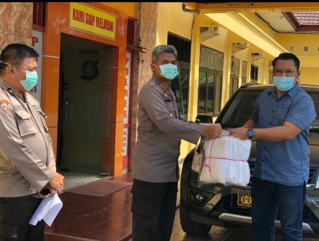 Sahabat Maman Peduli Covid-19 Berikan Bantuan APD di Poliklinik Paramasatwika Polres Buol