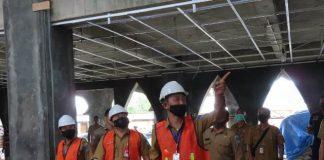 Tinjau Gedung Islamic Center, Iskandar: Progres Pembangunannya Sudah Sangat Baik