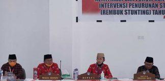 Pagi ini Sekretaris Daerah Kabupaten Bolsel Bpk.Marzanzius Arvan Ohy,S.STP Pimpin Rapat Bersama Tim Lintas OPD dalam Rangka Penurunan Stunting