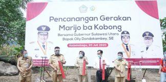 Gubernur Sulut Canangkan Gerakan Mari Jo ba Kobong di Kota Kotamobagu