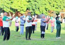Pemkab Bolmut Gelar Kegiatan Rutin Olahraga Bersama di Lapangan Desa Paku