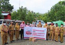 Pemkab Bolsel Terima Bantuan dari Bank SulutGo untuk Disalurkan kepada Korban Terdampak Banjir