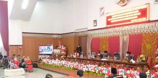 Bupati Paparkan Sejumlah Capaian dan Prestasi di Rapat Paripurna Istimewa HUT ke-12 Kabupaten Bolsel