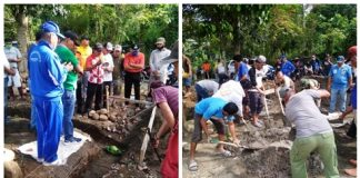 Pemerintah dan Masyarakat Mogolaing Bergotong Royong Bangun Rumah Singgah di Lokasi Pekuburan Kopandakan II