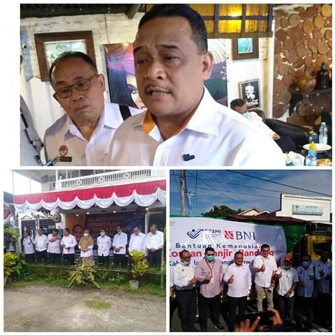 BP2MI Bersama BNI dan Pegadaian Wilayah Sulut Bantu Korban Banjir di Bolsel dan Bolmong