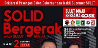 Rabu, Pasangan OD-SK Akan Dideklarasikan untuk Pilgub Sulut 2020