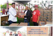 PDAM Bolmong Kirim 5.000 liter Air Bersih dan Bapok untuk Korban Banjir di Bolsel