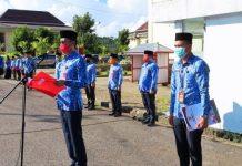 Bupati Bacakan Sambutan Gubernur pada Apel Korpri Dirangkaikan Peringatan HUT ke-56 Provinsi Sulut
