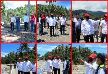 Bupati dan Wabup Bolsel Dampingi Anggota DPR RI Bersama Kepala BSWS1 Lakukan Penijauan Lokasi Pasca Bencana