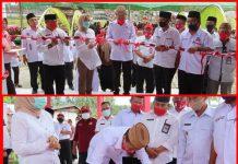 Iskandar Resmikan Dua Pasar Tradisional di Kecamatan Posigadan