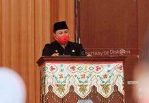 Wakili Bupati, Sekda Bacakan Sambutan di Rapat Paripurna DPRD Bolsel