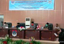 DPRD Boltim Gelar Paripurna Penandatanganan Nota Kesepakatan KUA-PPAS Perubahan APBD Tahun 2020