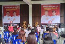 Gelar Kampanye Terbatas di Tomohon, Olly Lakukan Dialog Singkat dengan Petani