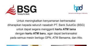 Per 1 Oktober 2020, Bank SulutGo Hentikan Penggunaan Kartu ATM Lama