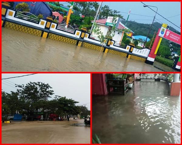 3 Jam Diguyur Hujan, Sejumlah Wilayah di Ibu Kota Kabupaten Buol Terendam