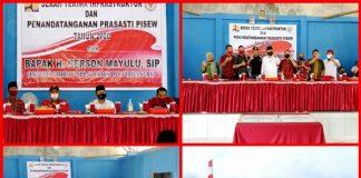 Kamis (29/10/2020),Anggota DPR RI Hi. Herson Mayulu, S.IP, menghadiri kegiatan serah terima dan penandatanganan prasasti Program PISEW (Pengembangan Infrastruktur Sosial Ekonomi Wilayah) tahun 2020, yang dilaksanakan di Desa Mopugad Utara,