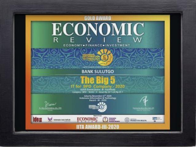 Bank SulutGo Buktikan Kualitas Pelayanannya dengan Meraih Penghargaan Gold Award Economic Review