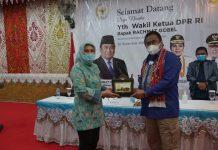 Tatong Bara Terima Langsung Kunjungan Kerja Wakil Ketua DPR RI