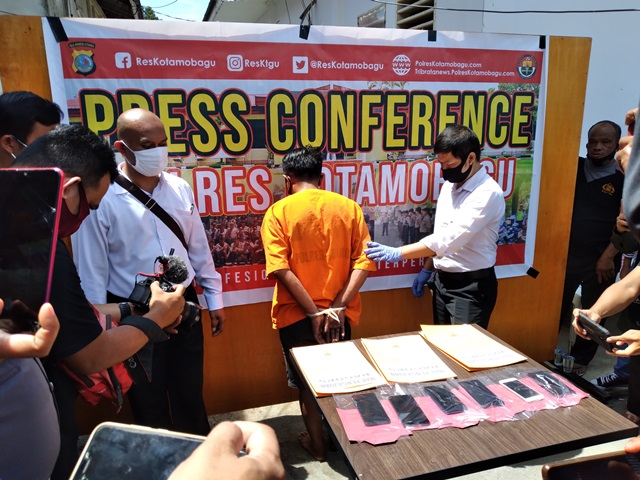 Polres Kotamobagu Gelar Press Conference Penangkapan TSK Jamret