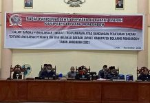 DPRD Bolmong Galar Paripiurna Ranperta APBD Tahun 2021