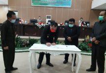 Pemkab dan DPRD Boltim Gelar Paripurna Penandatanganan KUA-PPAS Tahun 2021