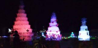 Kreatif!, Jemaat GMIBM Pusat Kolom 25 Kota Kotamobagu Membuat Pohon Terang dari Botol Plastik Bekas