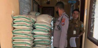 Polres Bolmong Laksanakan Imbauan Bawaslu Tentang Penundaan Pembagian Bansos di Masa Tenang