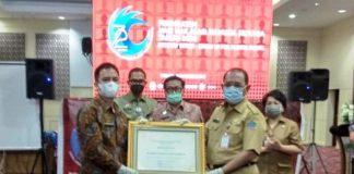 Pemkot Kotamobagu dapat Penghargaan dari Dirjen HAM
