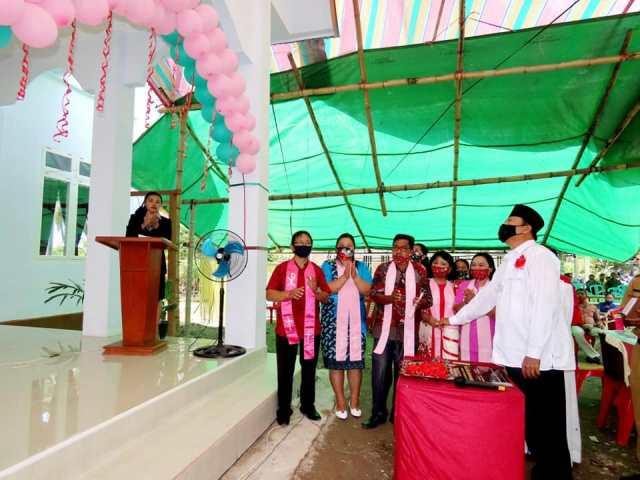 Resmikan Gereja GMIBM Eklesia, Pnt Raintama Sebut Herson Perwakilan di DPR RI yang Amanah