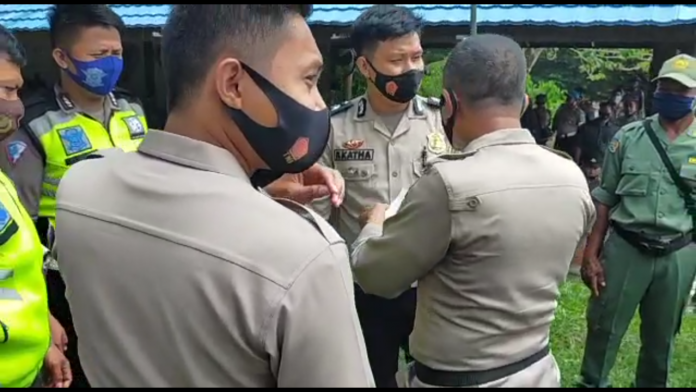 Simulasi Pengamanan TPS Pilgub Sulteng Tekankan Protkes