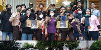 Komunitas Vespa, Slabor, BMR Forum Hijau, dan Pramuka Galang Dana Untuk Korban Bencana Manado