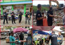 Jumat Barokah, DPC Kotamobagu Sahabat Polisi Indonesia Berbagi Masker dan Makanan Gratis