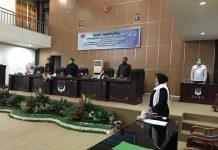 DPRD Boltim Gelar Rapat Paripurna Pengumuman Masa Akhir Jabatan Bupati dan Wabup Periode 2016-2021