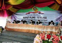 KPU Bolsel Gelar Rapat Pleno Penetapan Paslon Bupati Terpilih pada Pilkada Tahun 2020